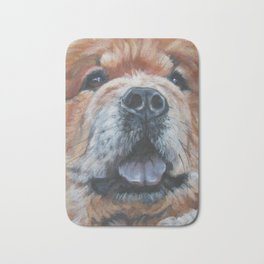 the chow chow dog portrait fine Art Dog Painting from an original painting by L.A.Shepard Bath Mat