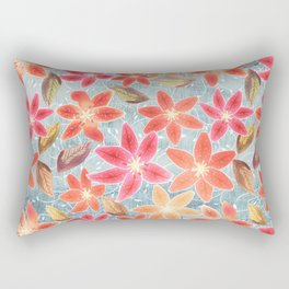 Cute Lilies and Leaves Rectangular Pillow