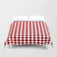 card Duvet Covers featuring Card Game by ArtSchool