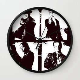 Justified Four Wall Clock