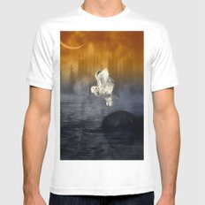 Her passage through time Mens Fitted Tee White MEDIUM