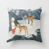 starry night Throw Pillows featuring Starry Night by Sarah Eisenlohr