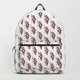 Santa Claus With Banner Of California Backpack