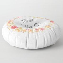Be Still Bible Verse (Psalm 46:10) Floor Pillow