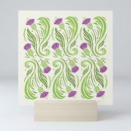 Thistles - Color Pattern Mini Art Print