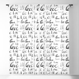 Words of Love Blackout Curtain