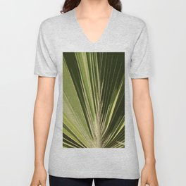 Abstract Palm Frond Unisex V-Neck