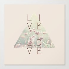 Live & Love Vintage Canvas Print