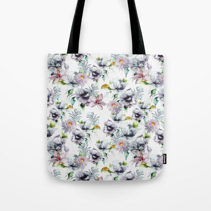 Autumn Garden PAttern Tote Bag