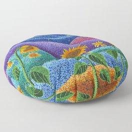 Dream Fields Floor Pillow