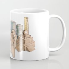 the city painted in pastel colours Mug