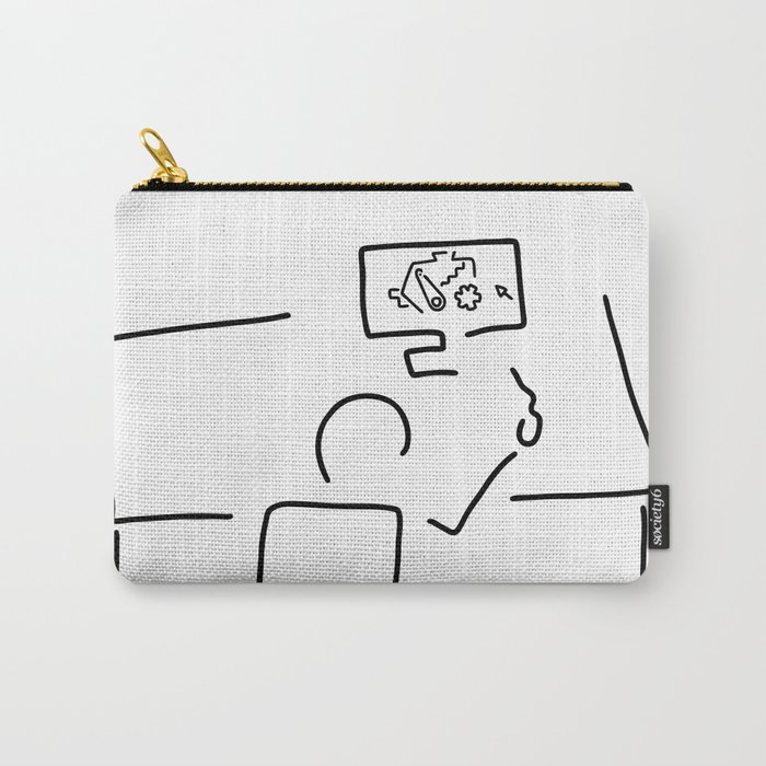 mechanical engineering engineer Carry-All Pouch by lineamentum