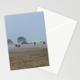 Misty Morning At Cannon Beach Stationery Cards