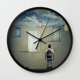 the right door Wall Clock