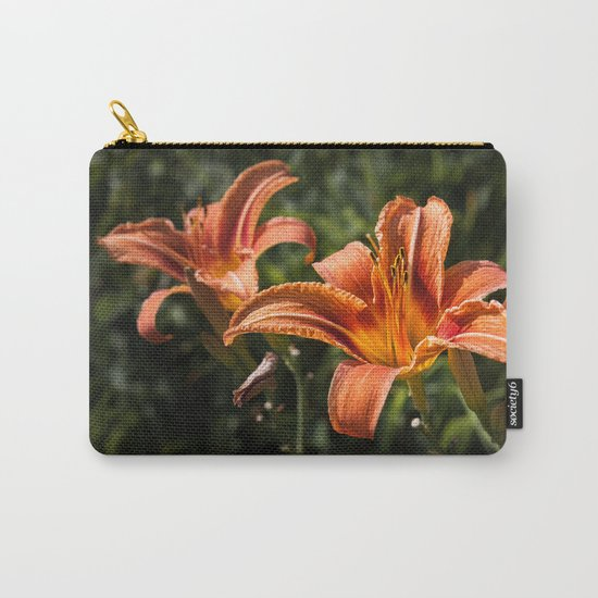Orange Yellow Fire Lily Carry-All Pouch