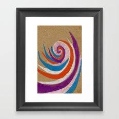 snoozy spiral Framed Art Print