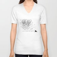 motorbike V-neck T-shirts featuring Motorbike diagram by GO-BIKE-GO