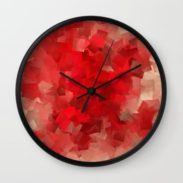 red modern pattern Wall Clock