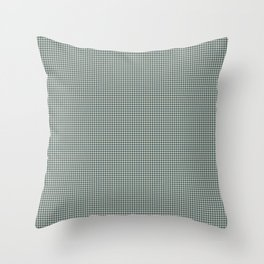 Night Watch PPG1145-7 and Alpaca Wool Cream Polka Dots on Scarborough Green PPG1145-5 Throw Pillow