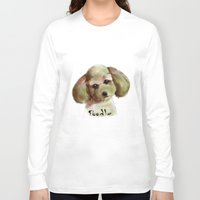 poodle Long Sleeve T-shirts featuring Poodle by Det Tidkun