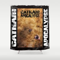 book cover Shower Curtains featuring Cathair Apocalypse Book 1 Cover by Cathair Apocalypse
