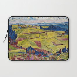Chamonix Valley and Snow-capped French Alps landscape by Cuno Amiet Laptop Sleeve