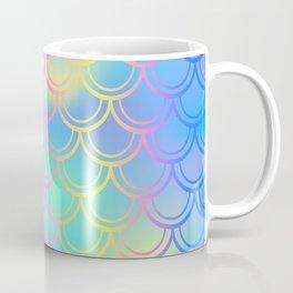 Blue Yellow Mermaid Tail Abstraction Coffee Mug
