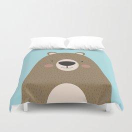Bears Are Friendly Duvet Cover
