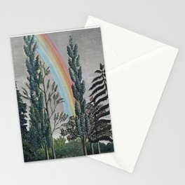Stormy Sky with Rainbow and Foliage (Lake Daumesnil by Henri Rousseau circa 1898) Stationery Cards
