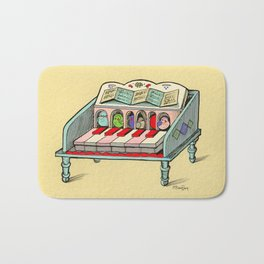 Bird Powered Harpsichord Bath Mat