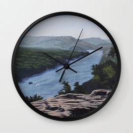 View of Lake Austin from Mount Bonnell Wall Clock