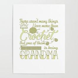 Crochet Grandma Poster