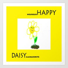 Happy Daisy Art Print