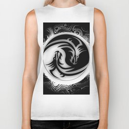 Yin and Yang Dragons Biker Tank