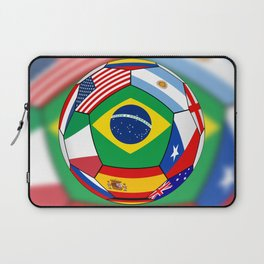 Ball With Various Flags Laptop Sleeve