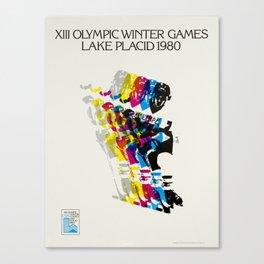 Advertisement lake placid 1980 xiii olympic Canvas Print