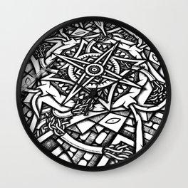 Mandala Graffiti Detail Wall Clock