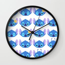 The Many Faces of Stitch Wall Clock