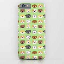 Nine Cute Dogs in Green iPhone Case