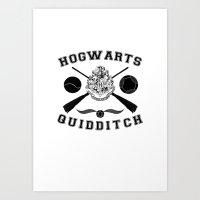 quidditch Art Prints featuring Hogwarts Quidditch by LumosϟNox