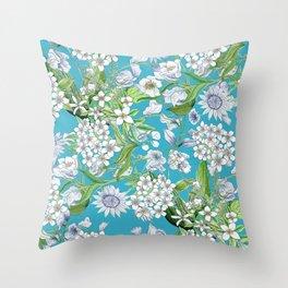 Royal Wedding Flowers, Meghan Markle's Bouquet Throw Pillow