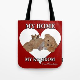 My Home, My Kingdom - Red Tote Bag