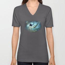 mermaid treasure Unisex V-Neck