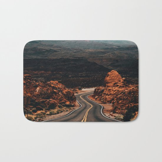 Road to Valley of Fire Bath Mat