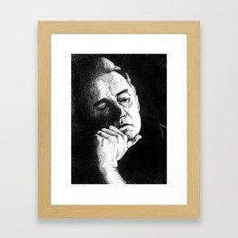 Man In Black JCII Pointillism Framed Art Print