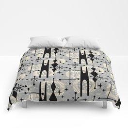 Retro Atomic Mid Century Pattern 771 Gray Comforters