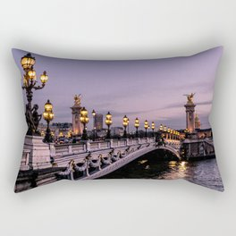 Nights in Paris Rectangular Pillow