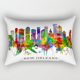 New Orleans Louisiana Skyline Rectangular Pillow