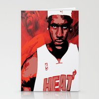 lebron Stationery Cards featuring Lebron James: #4 Hall of Fame Series by Sifa Blackmon