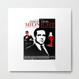 TheOffice - Threat Level Midnight Movie Poster Metal Print